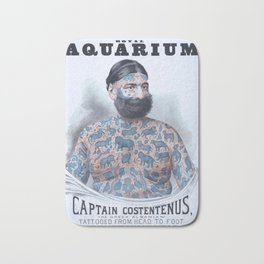 Captain Costentenus, tattoed from head to foot Poster Bath Mat