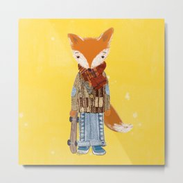 Fox Boy Metal Print