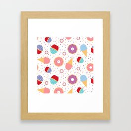 Donuts party Framed Art Print