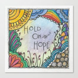 Hold Onto Hope (Little Tiles Series #3) Canvas Print