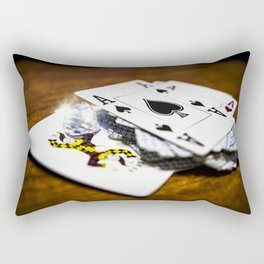Risk and reward Rectangular Pillow