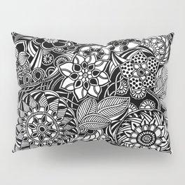 Taman Sari #2 black and white doodle art Pillow Sham