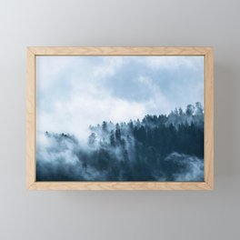 Clear away the fog to see the light. Blue Framed Mini Art Print