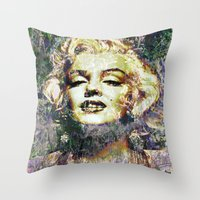 marilyn Throw Pillows featuring MARILYN by Vonis