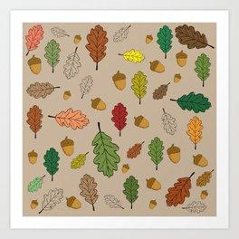 Oak pattern Art Print