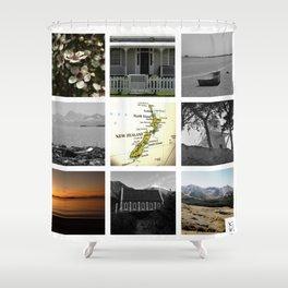 """KIWI square/ """"MAP"""" Shower Curtain"""