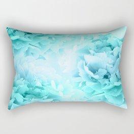 Aqua Blue Ocean Peonies Dream #1 #floral #decor #art #society6 Rectangular Pillow