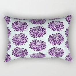 Violet Flowers On Pale Blue Rectangular Pillow