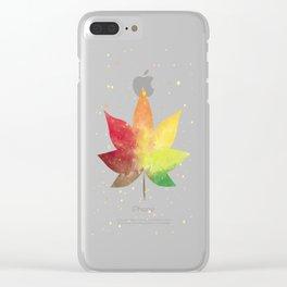 Maple Autumn Leaf Thanksgiving Nursery Clear iPhone Case