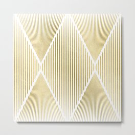 Folded Gold Metal Print