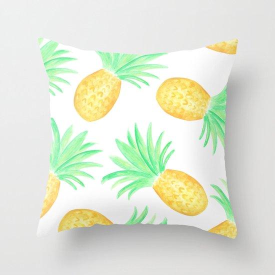 Seaside Pineapple Throw Pillow