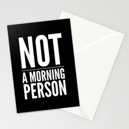 Not A Morning Person  Funny Hilarious Stationery Cards