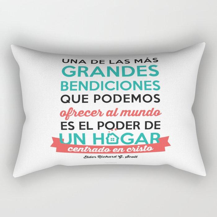 Un hogar centrado en Cristo Rectangular Pillow