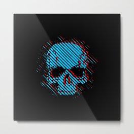 3d Skull Metal Print