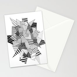 abstract crystal Stationery Cards