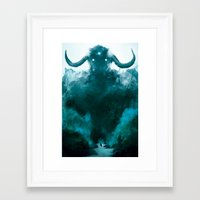 shadow of the colossus Framed Art Prints featuring The Colossus by kriztille