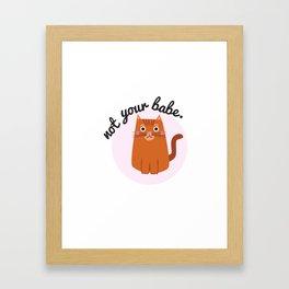 Feminist Cat Framed Art Print