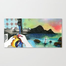 Washing Up Canvas Print