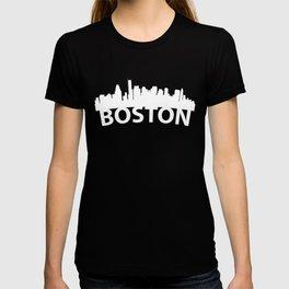 Curved Skyline Of Boston MA T-shirt