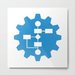blue gear Metal Print