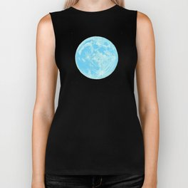 Moon Portrait 4, Blue Moon Biker Tank