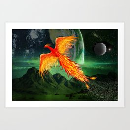 High Flying Phoenix Art Print