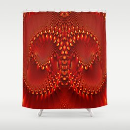 Red Copper Gem Horns Shower Curtain