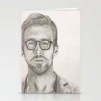 ryan gosling Stationery Cards featuring Ryan by Kristy Holding