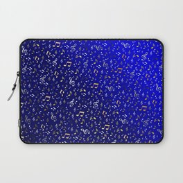 silver,gold,metall music notes in blue Laptop Sleeve