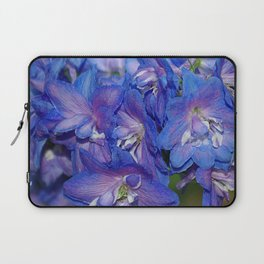 Sky blue Delphinium Flowers Laptop Sleeve