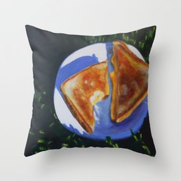 Grilled Cheese, Please Throw Pillow