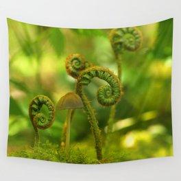Mushroom In The Ferns... Wall Tapestry