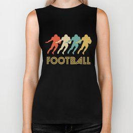 Running Back Retro Pop Art Football Biker Tank