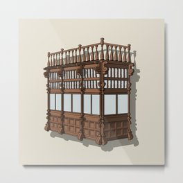 Colonial Balcony - Balcon colonial Metal Print