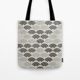 black and white japanese pattern Tote Bag