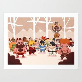 Street Fighters Art Print