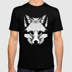 Geo - Fox  SMALL Mens Fitted Tee Black