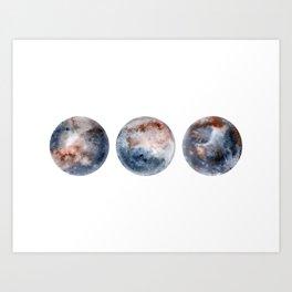 Moon Celestial Watercolor Art Print