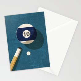 BILLIARDS / Ball 10 Stationery Cards