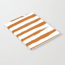 Autumn Maple STRIPES Handpainted Brushstrokes Notebook
