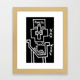 Honest. Ape. Framed Art Print
