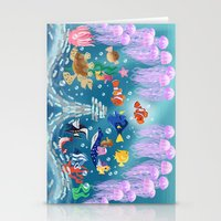 finding nemo Stationery Cards featuring Sea Wallpainting by princessbeautycase