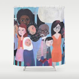 WHY AM I ME? SUBWAY SCENE Shower Curtain