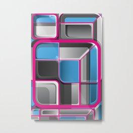 Mechanical Funk 5 Cool Pinky Metal Print