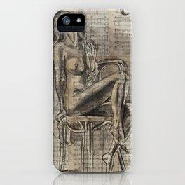 Iris - Sheet music Art iPhone Case