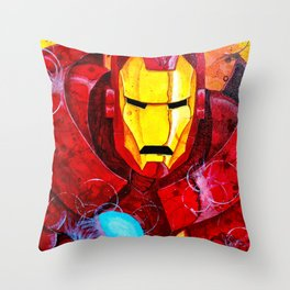 Heroes - Iron Man Throw Pillow