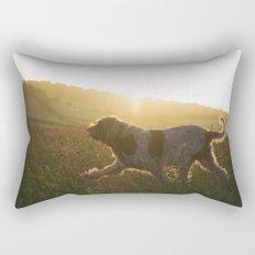 Brown Roan Italian Spinone Dog Rectangular Pillow