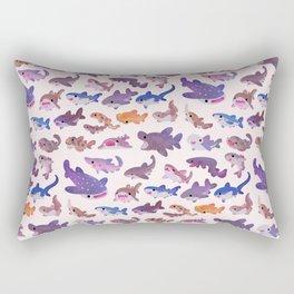 Shark day - pastel Rectangular Pillow