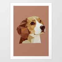 beagle Art Prints featuring Beagle by Sally Taylor