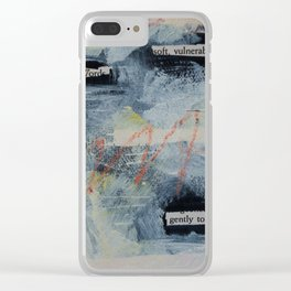 gently touch Clear iPhone Case
